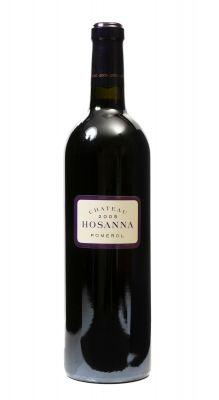 Una botella de Château Hosanna 2005. Categoría: vino tinto.