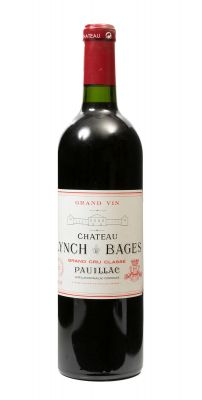 Una botella de Château Lynch Bages. Grand Cru Classé 2005.