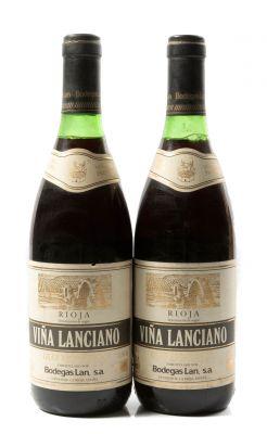 Dos botellas de Viña Lanciano Gran Reserva 1975.