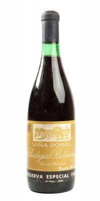 Botella de Viña Pomal Reserva Especial, Gran Reserva de 1955. Categoría:  vino tinto.