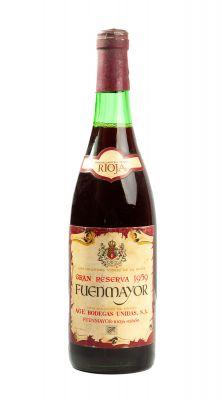 Botella de Bodegas AGE Fuenmayor Gran Reserva 1959. Categoría: vino tinto.