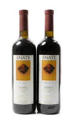 Dos botellas de Enate Reserva, 1994. Categoría: vino tinto.