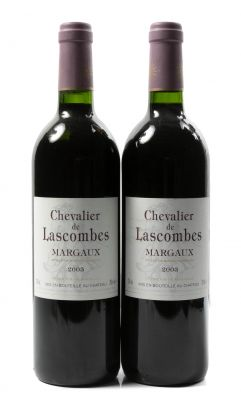 Dos Botellas de Chevalier de Lascombes, 2003. Categoría: Vino Tinto.