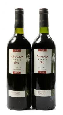 Dos botellas de  Martinet Bru, cosechas 1995 y 1996. Categoría: vino tinto.