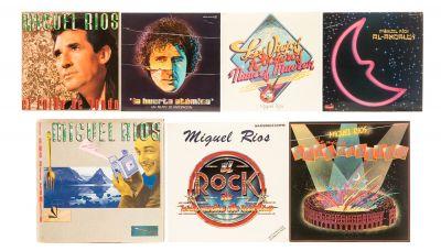 """MIGUEL RIOS, 7 Álbumes con 6 LPs de vinilo.  """" ?Lo más de… Rock en el Ruedo"""", 1985."""