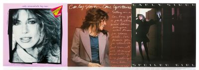 CARLY SIMON 3 albums with 3 vinyl LPs.