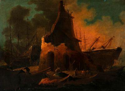 LUDOLF BACKHUYSEN (Emden, Hánover, 1630 - Ámsterdam, 1708), atribuido.
