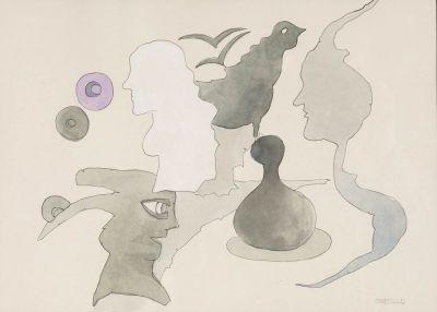 "JORGE CASTILLO CASALDERREY (Pontevedra, 1933). ""Perfiles""."