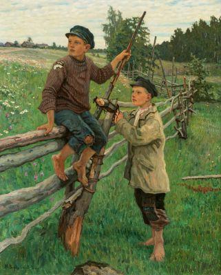 NIKOLAJ PETROVICH BOGDANOV-BELSKY (Shitiki, Smolensk, 1868-1945).