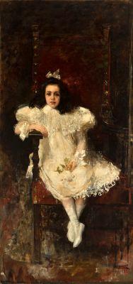 """JUAN ANTONIO BENLLIURE GIL (Pueblo Nuevo del Mar, Valencia, 1860 – Madrid, 1930). """"Leopoldina""""."""