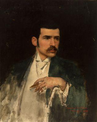 """JUAN ANTONIO BENLLIURE GIL (Pueblo Nuevo del Mar, Valencia, 1860 – Madrid, 1930). """"Retrato de Mariano Benlliure""""."""
