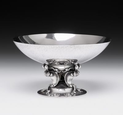 GEORG ARTHUR JENSEN (Denmark, 1866 - 1935).Small center.
