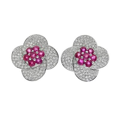 Rosetón diamantes y rubíes