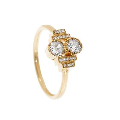 Oro y diamantes estilo Art Decó