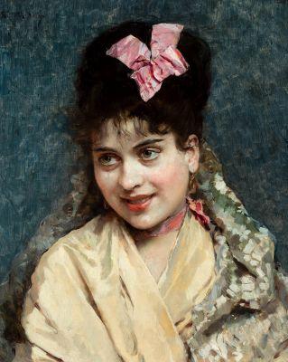 RAIMUNDO MADRAZO Y GARRETA (Rome, 1841 - Versailles, 1920).
