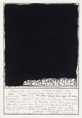 ERWIN BECHTOLD (Cologne, Germany, 1925).Untitled, 1977Ink on cardboard.