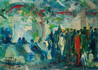 """""""Multitud"""", 1972. JOSÉ LUIS FUENTETAJA"""