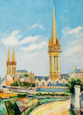"""ELISÉE MACLET.  """"Catedral de Saint Pol de Leon"""""""