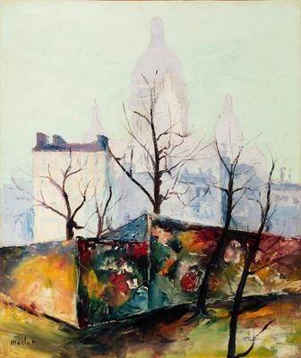 """Árboles antes la Basílica del Sacré Coeur"" ELISÉE MACLET"