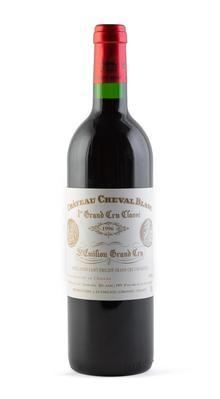 Botella de Château Cheval Blanc, Cosecha de 1996.