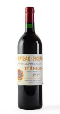 Botella de Château Figeac, 1996.