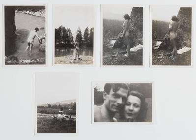 Conjunto de seis fotografías del álbum familiar de Vivien Leigh.