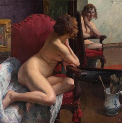 """""""Desnudo femenino frente al espejo"""" JOSÉ RAMÓN ZARAGOZA"""