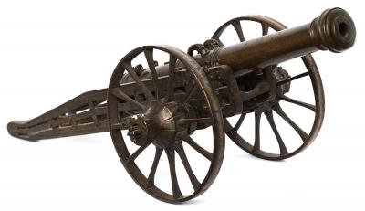 Modelo de cañón del siglo XVII.