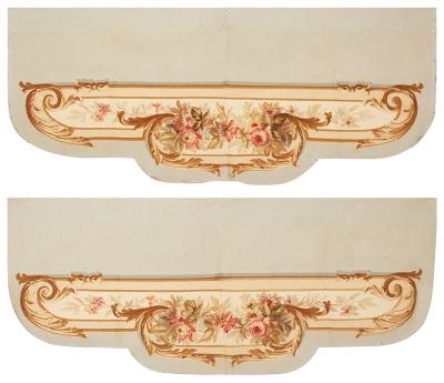 Pareja de tapices de Aubusson. Francia, siglo XIX.