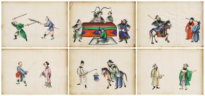 Conjunto de seis dibujos. China, siglo XIX.