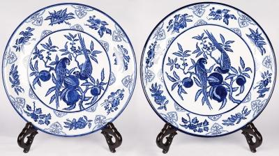 Pareja de platos. China,  siglo XX.