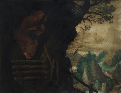 Escuela española, siglo XVIII. Santo eremita