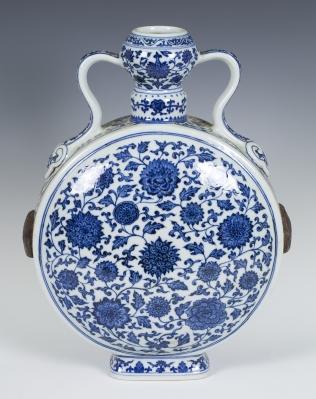 """Jarrón """"moonflask"""". China, principios del siglo XX."""