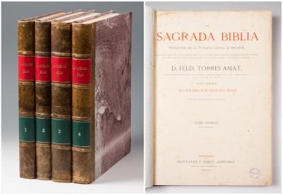 """""""La Sagrada Biblia"""". Traducida por TORRES AMAT, Félix"""