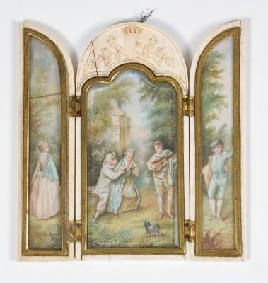 Tríptico con escenas, siglo XVIII.