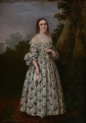 """Retrato de dama"". Posiblemente LACOMA, Francisco"