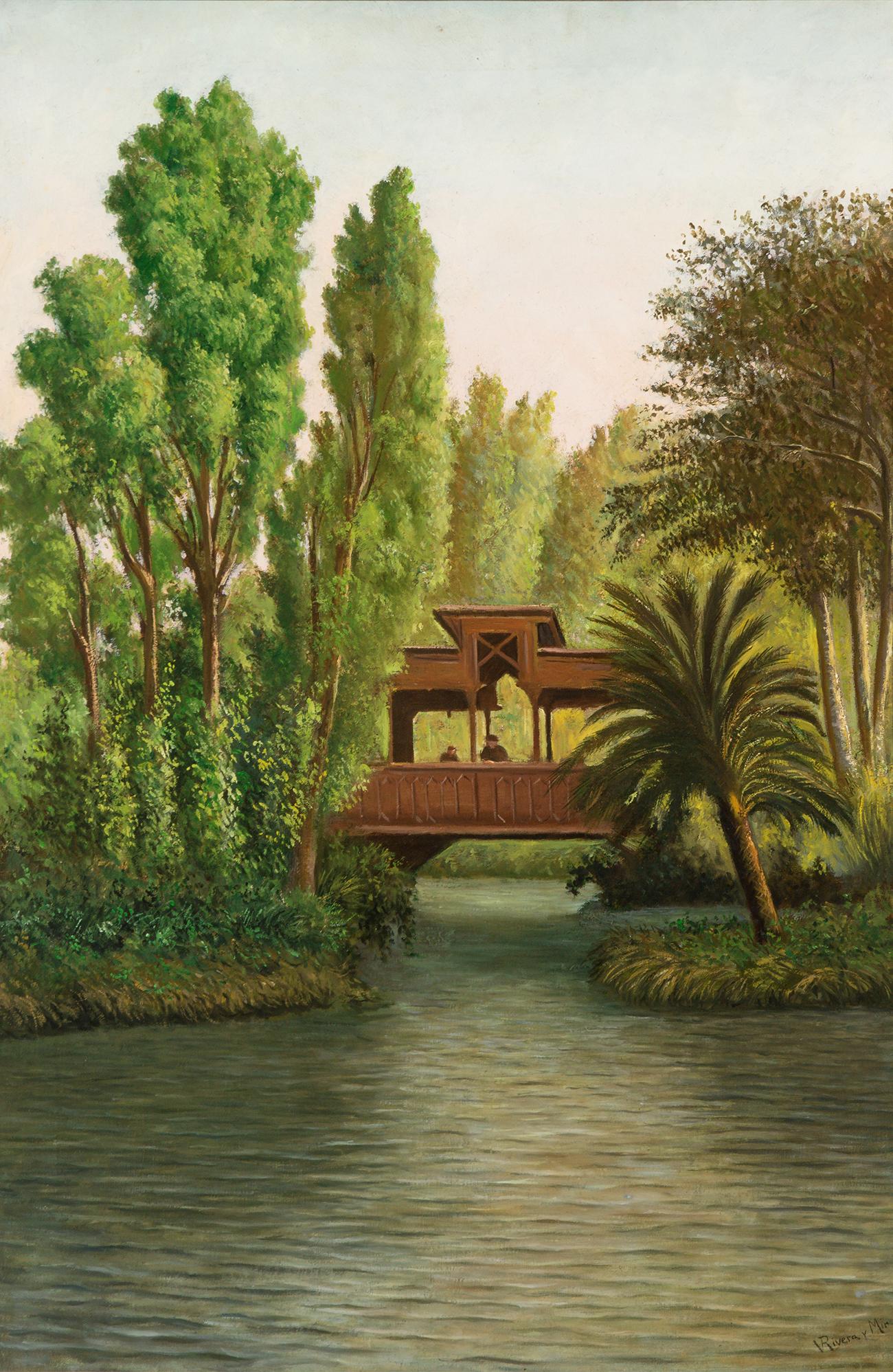 """""""Paisaje fluvial"""". RIVERA Y MIR, Vicente"""