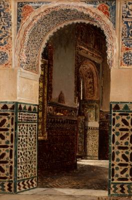 """""""Lateral de palacio árabe, Sevilla""""."""