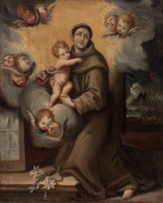 """""""San Antonio con el Niño"""". Siglo XVIII."""