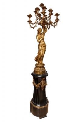 Candelabro, Napoleón III, segunda mitad del siglo XIX.