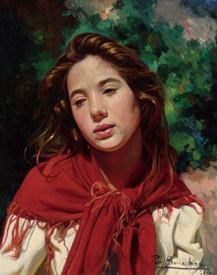 """Retrato de  mujer joven"" FRANCISCO BARRACHINA"