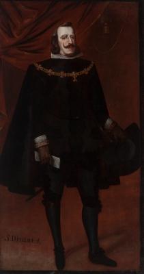 """""""Retrato de Felipe IV con el toisón"""" Escuela española,"""