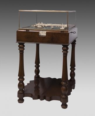 Maqueta del Puerto de Valencia, 1851. Mueble y crista