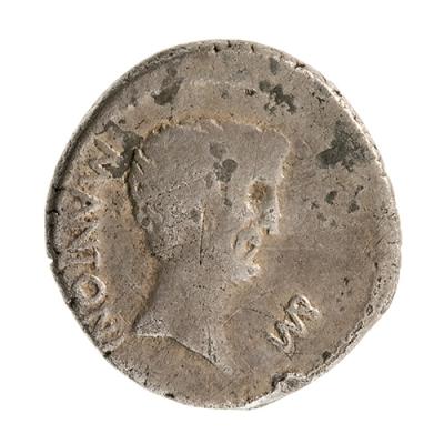 Denario de Marco Antonio; Roma Republicana, 36 a. C
