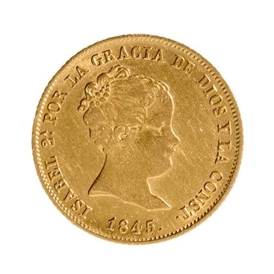 Moneda de 80 reales de Isabel II; Madrid C. L
