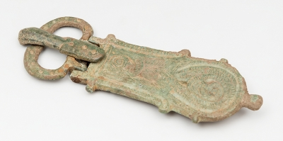 Hebila visigoda completa, siglo V.