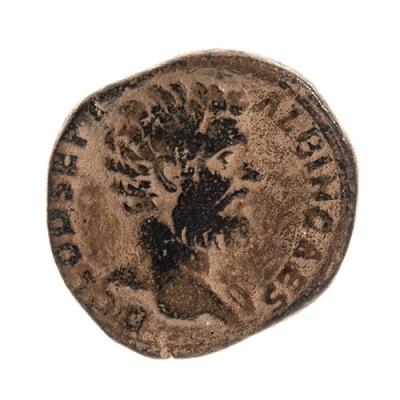 Sestercio de Clodio Albinio, 193-197 d. C