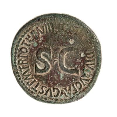 Sestercio de Tiberio, siglo I d. C