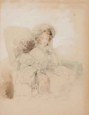 """""""Retrato de joven dama"""". JEAN BAPTISTE ISABEY"""