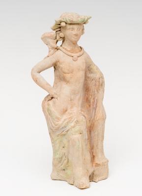 Figura femenina de Tanagra; Magna Grecia, siglos II-I a.
